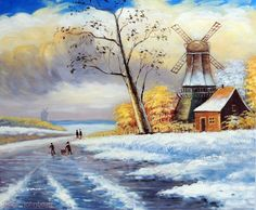Dutch winter landscape, John's Art & Frame