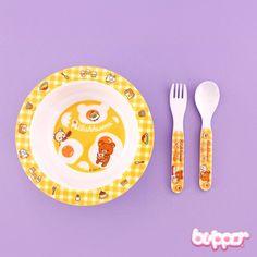 Rilakkuma Bowl & Cutlery Set