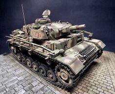 Pz.Kw III Ausf. N, - Pz.Regt Hermann Goering, South Italy 1943.