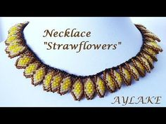 Best Seed Bead Jewelry  2017  Necklace Strawflowers