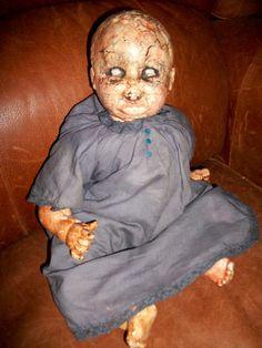 spooky dolls | Creepy Vintage Doll