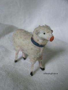 Antique Nativity Lamb