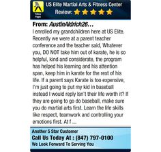 I enrolled my grandchildren here at US Elite. Recently we were at a parent teacher...