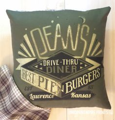 Supernatural  Dean Winchester Pillow Cover  by UnicornEmpirePrints on etsy