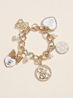 Heart Charm Bracelet   GUESS.com