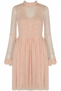 Romantic Dress with lace and tulle - My Pink Obsession
