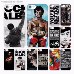 Rocky Balboa Motivational Words design hard White Case Cover for Apple iPhone 7 6 6s Plus SE 5 5s 5C 4 4s phone case