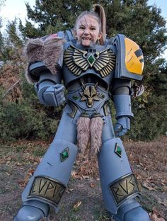 A proud little wolf daughter!! {Warhammer 40k Space Wolf Cosplay Costume by Killhunger.} Link : https://killhunger.deviantart.com/
