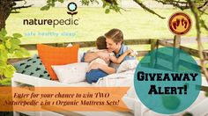 Don't miss out on your chance to win TWO awesome Naturepedic, 2 in 1 Organic Twin Mattress sets! #NPtwinsfortwins