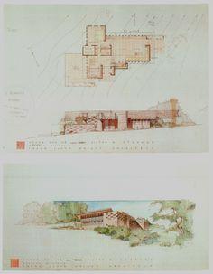 Frank Lloyd Wright Buildings, Frank Lloyd Wright Homes, Usonian House, Clerestory Windows, Radiant Floor, Interior And Exterior, Vintage World Maps, House Design, Architecture