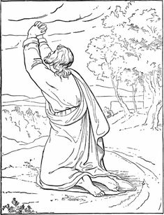 Jesus in the Garden coloring page