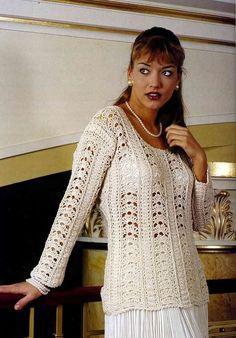 Linda Blusa em Crochê. A composição do Ponto Fantasia está perfeita!    Bjimmm,  Ivy         Tweetar     Seguir @crochetrico      ...