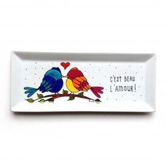 Assiette décorative • C'est beau l'amour - peinte à la main par l'artiste peintre Isabelle Malo http://www.isamalo.com
