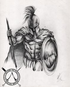 Tattoo Sketches, Tattoo Drawings, Greek God Tattoo, Gladiator Tattoo, Poseidon Tattoo, Spartan Tattoo, Greek Mythology Tattoos, Totenkopf Tattoos, Spartan Warrior