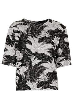 Palm Jacquard Tee from Topshop http://www.topshop.com/en/tsuk/product/new-in-this-week-2169932/new-in-this-week-493/palm-jacquard-tee-2606507?bi=1&ps=200