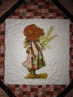 Machine Quilted Vintage Holly Hobbie Wall Hanging by bebak on Etsy, $37.00