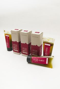 PDF Packaging on Packaging of the World - Creative Package Design Gallery Smart Packaging, Food Packaging, Brand Packaging, Packaging Ideas, Pesto Uses, Food Truck, Simple Colors, Packaging Design Inspiration, Creative Package