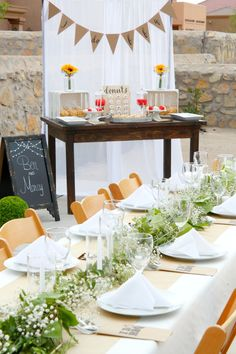 A Rustic But Elegant Setup For An I Do BBQ Engagement Party IDoBBQ