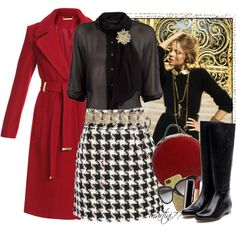Houndstooth, still going to be a super hot trend for this upcoming fall.