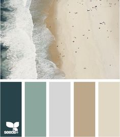 beachy color schemes - Like this whole palette