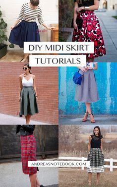 DIY midi skirt tutorials I MUST try!