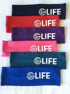 Cotton Headband Volleyball Life