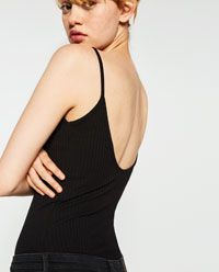 RIBBED STRAPPY BODYSUIT - Available in more colours