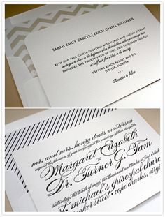 Typography invites.