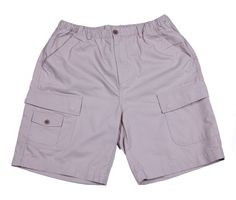 Be ready for a rugged hike on the trail or a lazy afternoon in your back yard with these comfortable 100% cotton cargo shorts by Boston Traders