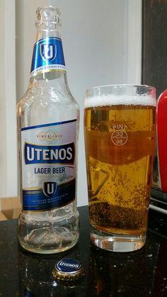Utenos. Lithuanian Lager Beer