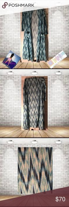 Lularoe Sara Duster Chevron Pattern Size XS NWT Lularoe Sara Duster  Size XS NWT . XS Equals Size 0-4 Super Comfortable. perfect For Fall! 🚫trades. Please ask all questions prior to buying LuLaRoe Jackets & Coats Vests