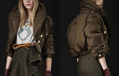 This Burberry oversized bomber jacket is so cool, it's hot!