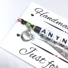 Friendship Gifts, Friendship Bracelets, Jewelry Gifts, Handmade Jewellery, Boho Jewelry, Alphabet Beads, Handmade Christmas Gifts, Personalized Jewelry, Cool Gifts