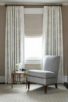 Hodsell McKenzie: Bedroom Curtains in fabric: TRACERY. Design by ML Interior Design
