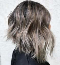 20 Ways to Make a Long Inverted Bob All Your Own Shaggy Ash Brown Lob Inverted Bob Styles, Styles Bob, Angled Bob Hairstyles, Inverted Bob Hairstyles, Angled Bobs, Pixie Haircuts, Braided Hairstyles, Latest Hairstyles, Stacked Bobs