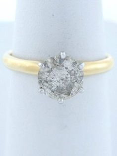1.35ct ROUND DIAMOND ENGAGEMENT RING 14K YELLOW GOLD SOLIT $1789