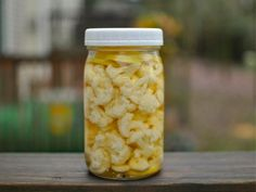 PIckled cauliflower is a great thing to have on hand during the holiday barrage of sweets and treats. Its tart crunch will help you keep your taste buds balanced and happy.