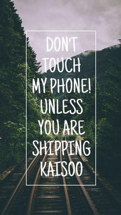 Phone background, wallpaper, kpop, shipping, ship, kaisoo, kai, d.o, kim jongin,