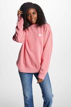 d46a1df6afc3f Pink Embroidered Crew Neck Sweatshirt – Ivory Ella Ivory Ella Sweatshirt