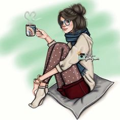 Find images and videos about art, coffee and girly_m on We Heart It - the app to get lost in what you love. Girly M, Illustrations, Illustration Art, Marinette E Adrien, Sarra Art, Coffee Girl, Hot Coffee, Coffee Break, Coffee Scrub