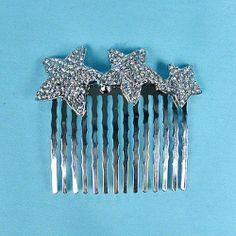 Silver Comb With Rhinestone Stars H485SICL | eBay