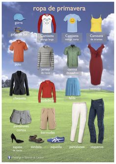 ROPA DE PRIMAVERA Spanish for the whole family! www.spanish-school-herradura.com