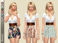 The Sims Resource: Romantic flowers dress by Birba32 • Sims 4 Downloads