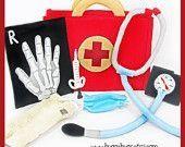 Felt pretend  doctors supplies