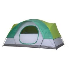 Very Basic (not really recommended) EMBARK Grn 6p Dme Tent  - 12x7x70 $80 I wanted to find a tent under $100 and this is one of the better ones I've found.  I like the substaintial rainfly and the venting.  I really don't like the fiberglass poles which just don't last.  A well maintained quality tent will last you at least 5 years, likely closer to 10 with monthly use.  I wouldn't expect this one to make it past 3 with yearly use.  Just my opinion.