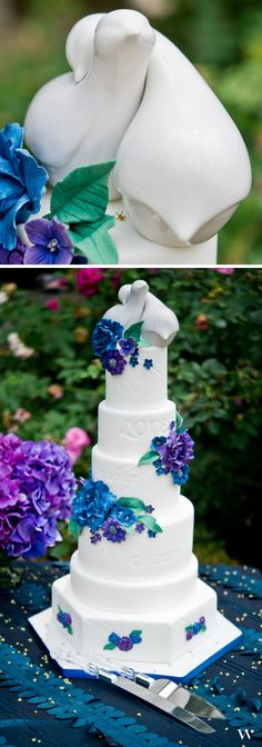 Nuzzling sweetly together, our Contemporary Love Birds Cake Toppers are the perfect addition to the top of your wedding cake. Get your set here: http://www.weddingstar.com/product/contemporary-love-birds-cake-topper