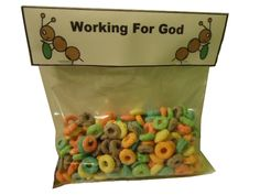 "Working for God ""Ant Snacks"" for Sunday school."