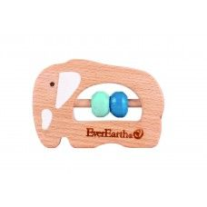 Everearth Small Wooden Rattle (4 designs to choose from)