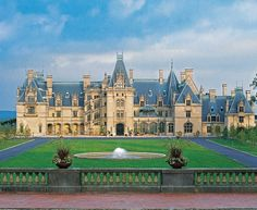 Biltmore Estate - Asheville, North Carolina (Built 1889-1895) The main house on the estate, is a Châteauesque-styled mansion built by George Washington Vanderbilt II and is the largest privately owned house in the United States.