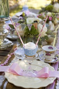 Table setting for a precious little girl's party